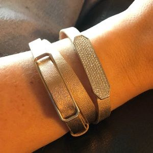 Origami Owl triple wrap bracelet with slide